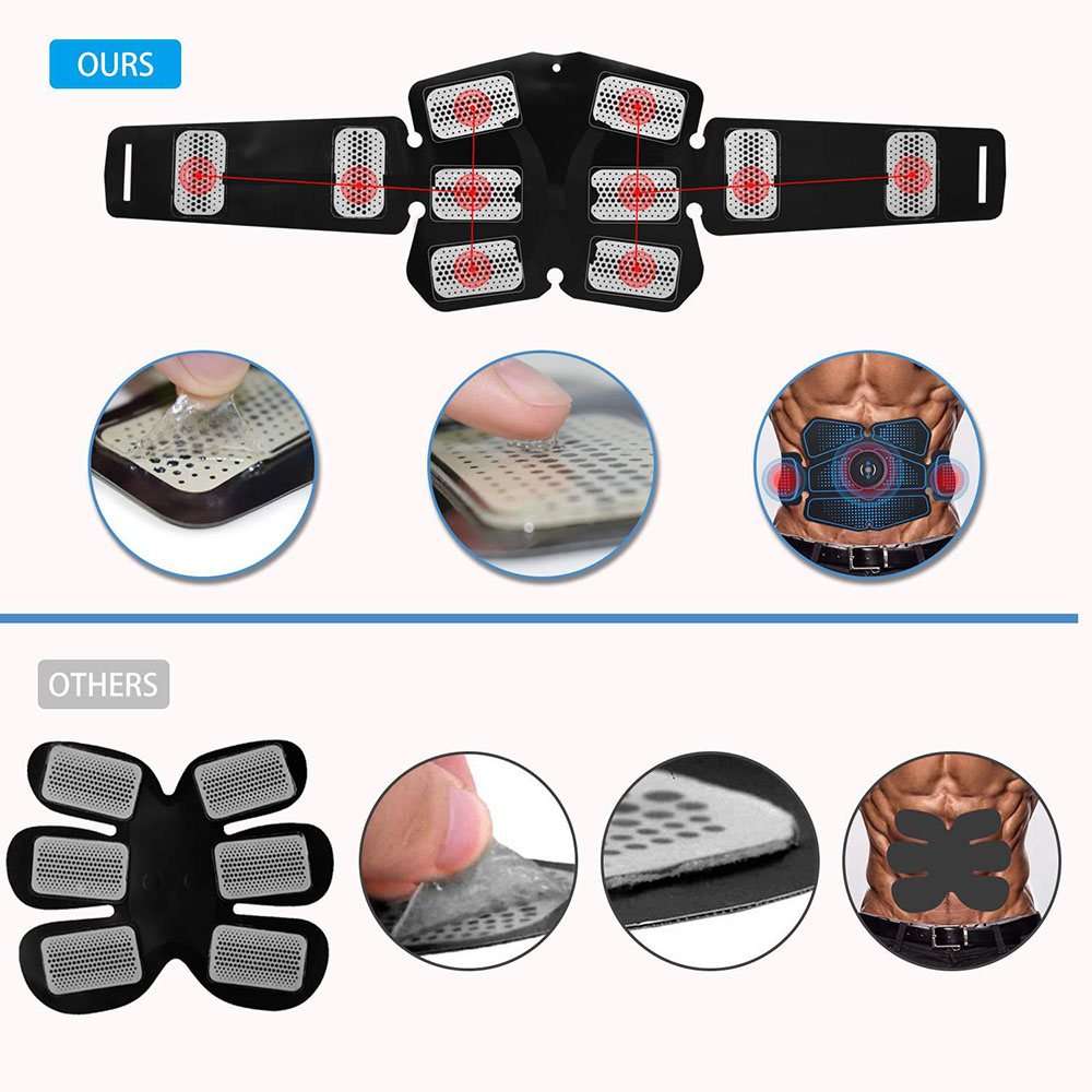 GRT Fitness 16973-rt6pzf Abdominal Muscle Stimulator for Training