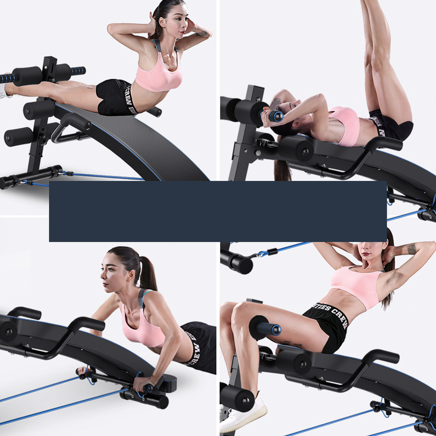 GRT Fitness 17352-sj8jin Multi-Functional Ab Bench, Abdominal Sit Up Bench, Decline Bench with Headrest