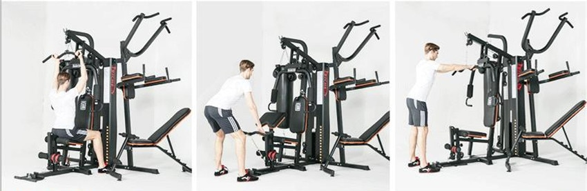 GRT Fitness 17400-hayes4 8 in 1 Large Combined Training Device
