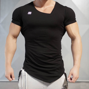 GRT Fitness 18259-serkeh-300x300 Asymmetric Collar Sports Men's T-Shirt