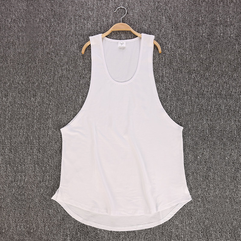 GRT Fitness 18650-f6nrkx Men's Solid Color Loose Style Tank Top