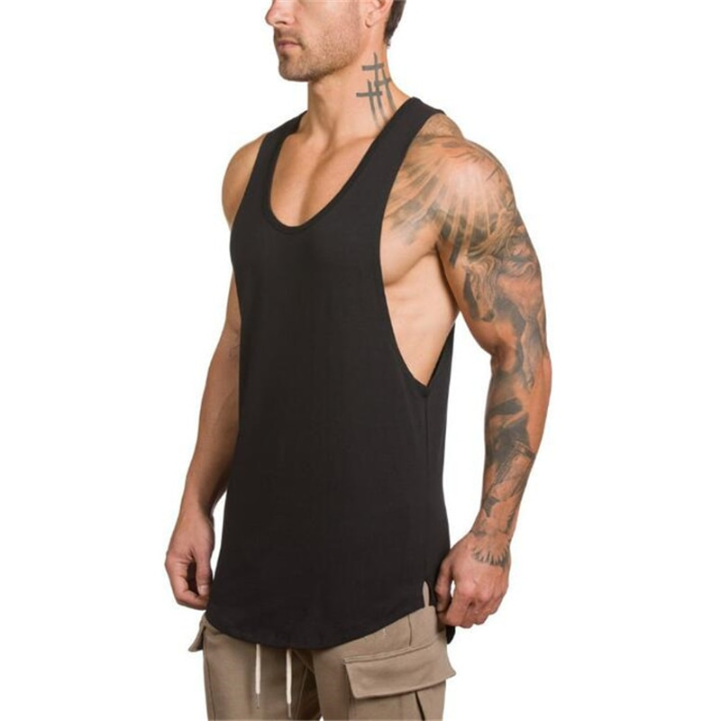 GRT Fitness 18650-utqan3 Men's Solid Color Loose Style Tank Top