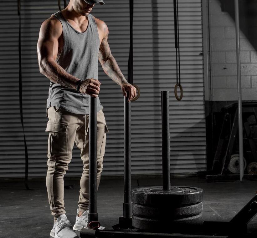 GRT Fitness 18650-xsowwf Men's Solid Color Loose Style Tank Top