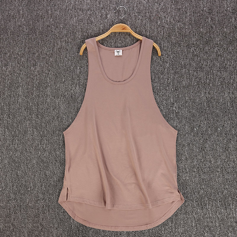 GRT Fitness 18650-y1ki70 Men's Solid Color Loose Style Tank Top