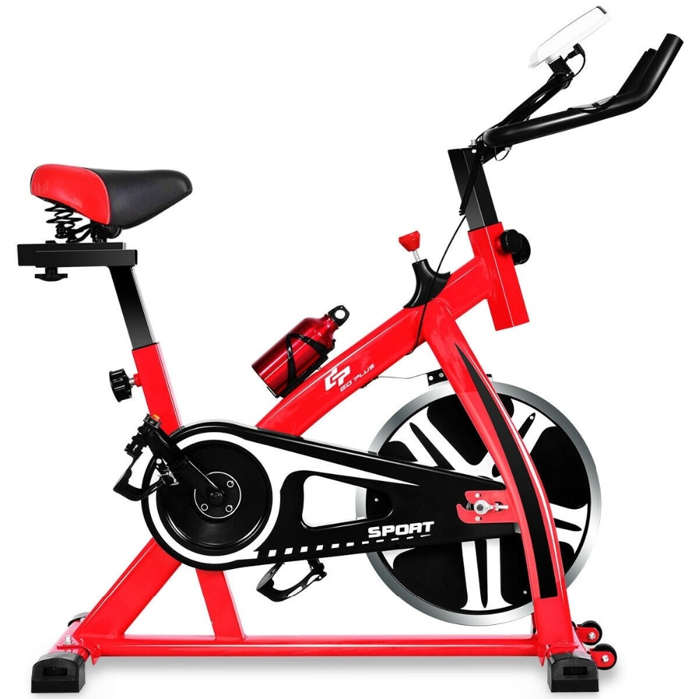 GRT Fitness 22405-2ctnrg Ergonomic Adjustable Resistances Exercise Bicycle Cycling Cardio Fitness LCD Electronic Display Thickened Steel Pipe Bicycle