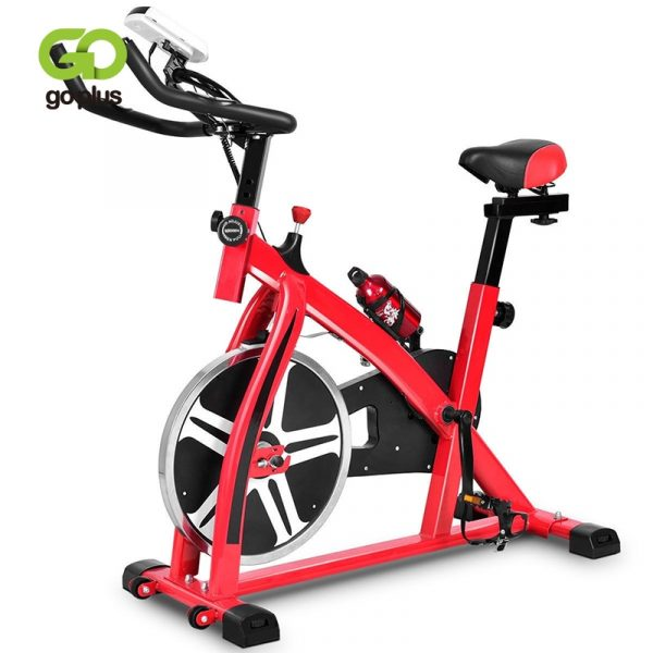 GRT Fitness 22405-lpbitz Ergonomic Adjustable Resistances Exercise Bicycle Cycling Cardio Fitness LCD Electronic Display Thickened Steel Pipe Bicycle
