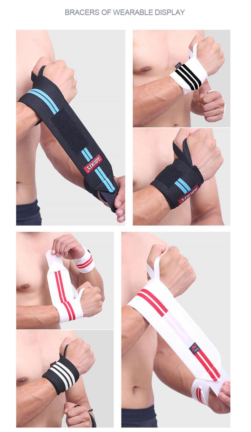 GRT Fitness 22605-jxhr5b 6 Colors Adjustable Wristband Elastic Wrist Wraps Bandages For Weightlifting Power Lifting Breathable Wrist Support
