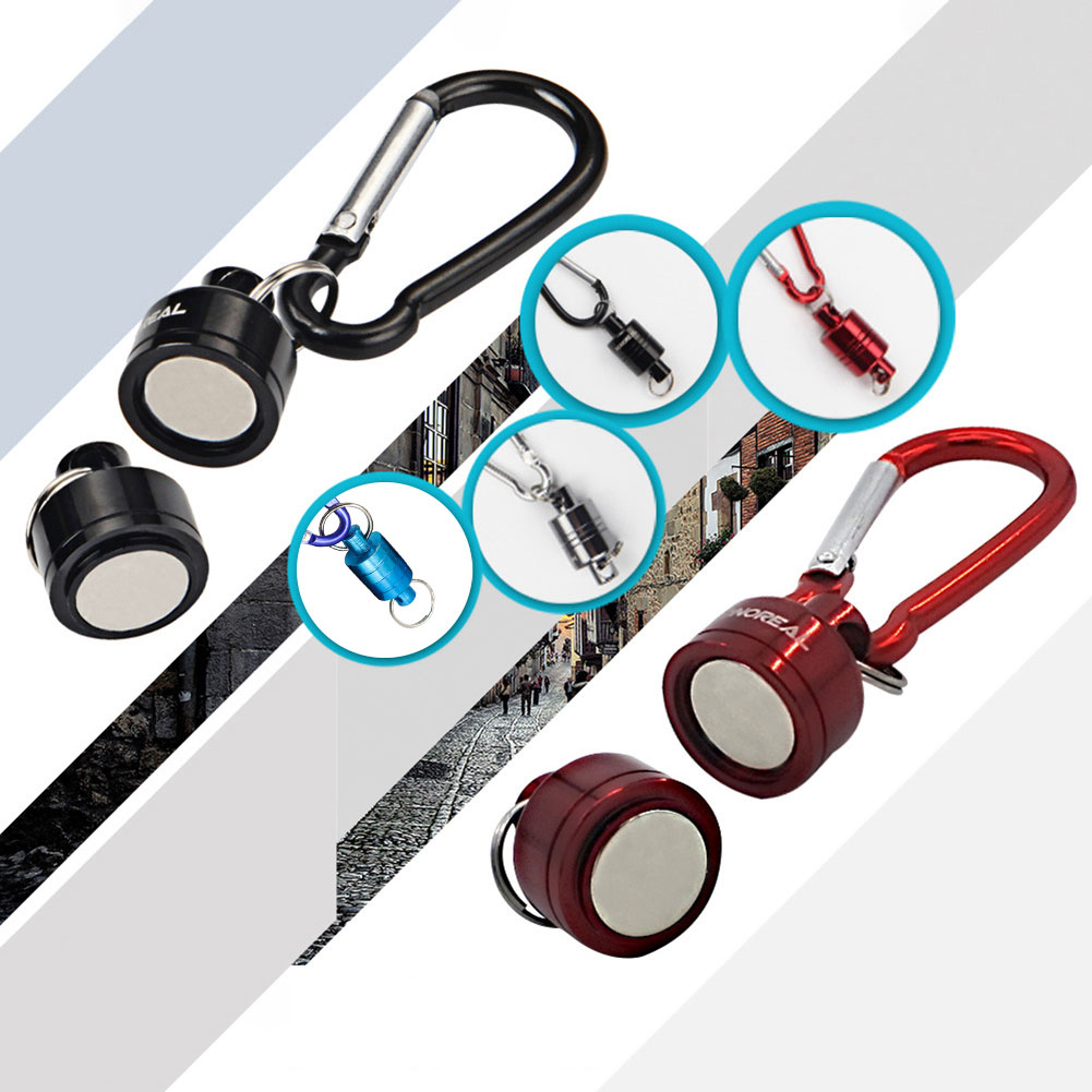 GRT Fitness 22669-291p8m Magnetic Carabiner Magnetic Button Fishing Keychain Snap Clip Lock Buckle Hook Carabiner Fishing Tool Outdoor Camping Supplies