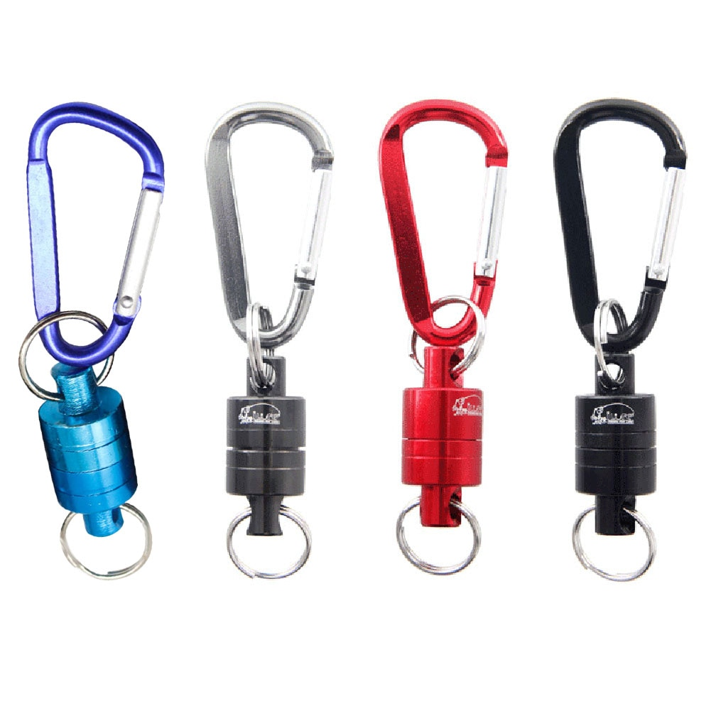 GRT Fitness 22669-b4zs91 Magnetic Carabiner Magnetic Button Fishing Keychain Snap Clip Lock Buckle Hook Carabiner Fishing Tool Outdoor Camping Supplies