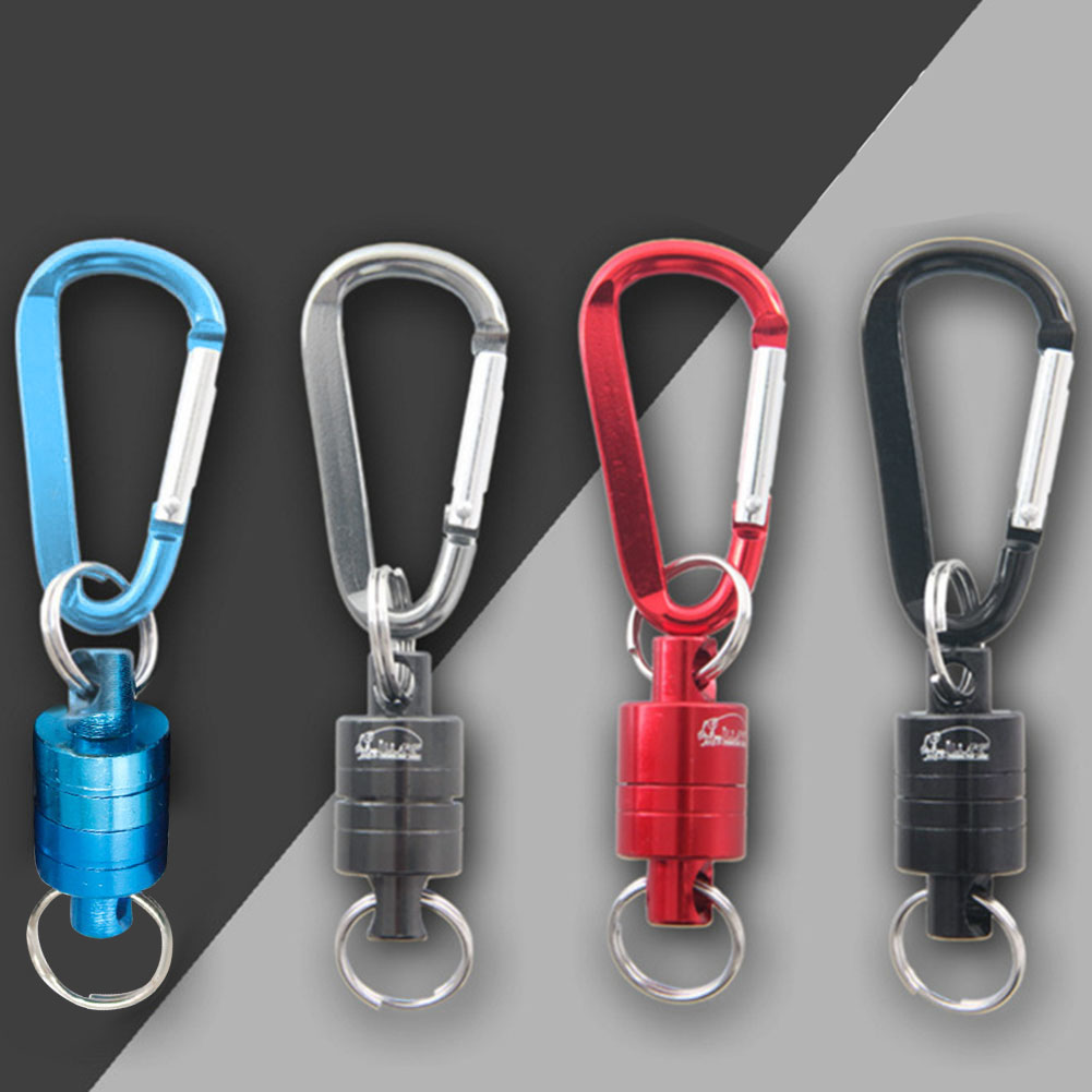 GRT Fitness 22669-ujcchs Magnetic Carabiner Magnetic Button Fishing Keychain Snap Clip Lock Buckle Hook Carabiner Fishing Tool Outdoor Camping Supplies