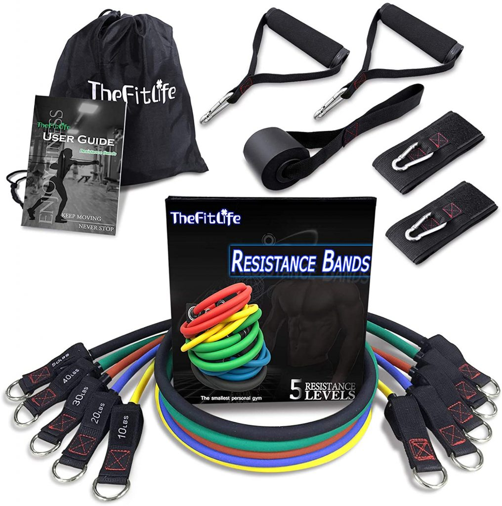 GRT Fitness 71n33kWubAL._AC_SL1500_-1016x1024 FitLife Exercise and Resistance Bands Set - Stackable up to 150 lbs