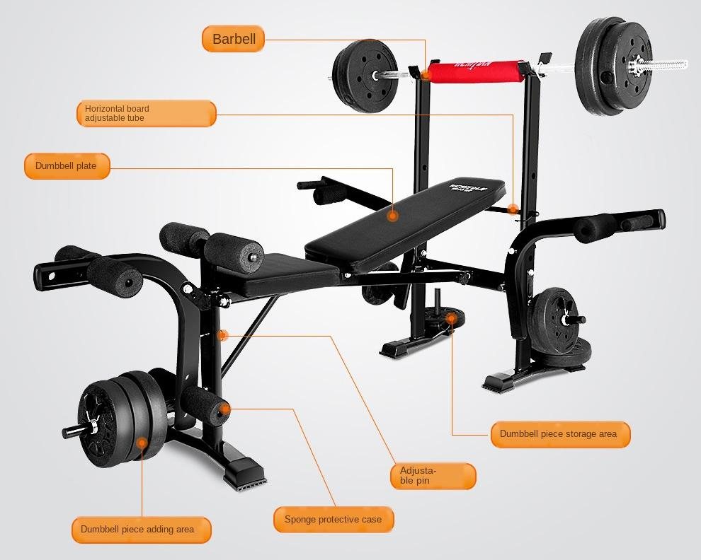 GRT Fitness 17348-4235e2 Multifunction Gym Weight Bench