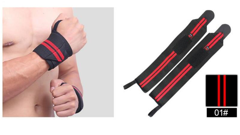 GRT Fitness 22605-18023d 6 Colors Adjustable Wristband Elastic Wrist Wraps Bandages For Weightlifting Power Lifting Breathable Wrist Support