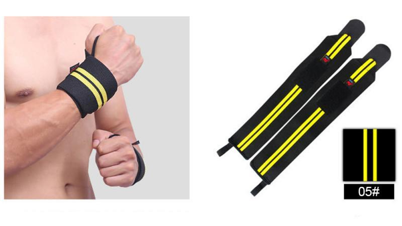 GRT Fitness 22605-3f9d0e 6 Colors Adjustable Wristband Elastic Wrist Wraps Bandages For Weightlifting Power Lifting Breathable Wrist Support