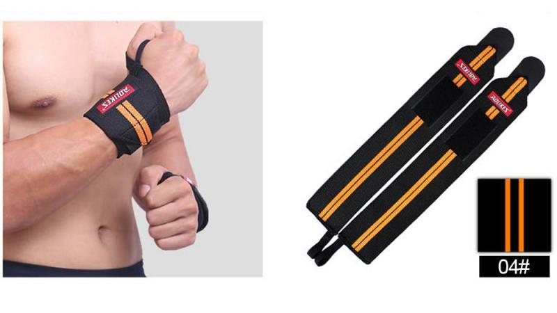 GRT Fitness 22605-b8333e 6 Colors Adjustable Wristband Elastic Wrist Wraps Bandages For Weightlifting Power Lifting Breathable Wrist Support