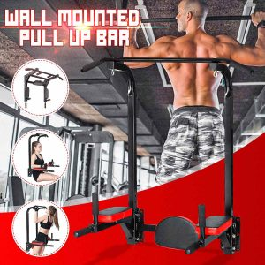 GRT Fitness 23055-vmkkln-300x300 Wall Mount Pull Up Bar Horizontal Bar Chin Up Bar Dip Station Indoor Fitness Equipment for Home Gym Workout Multi Power Tower