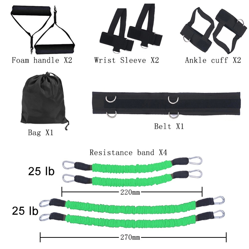 GRT Fitness 23406-737vds Pull Rope Strength Training Resistance Bands Boxing Running Jumping Bouncing Home Gym Workout Equipment Stretching Belt