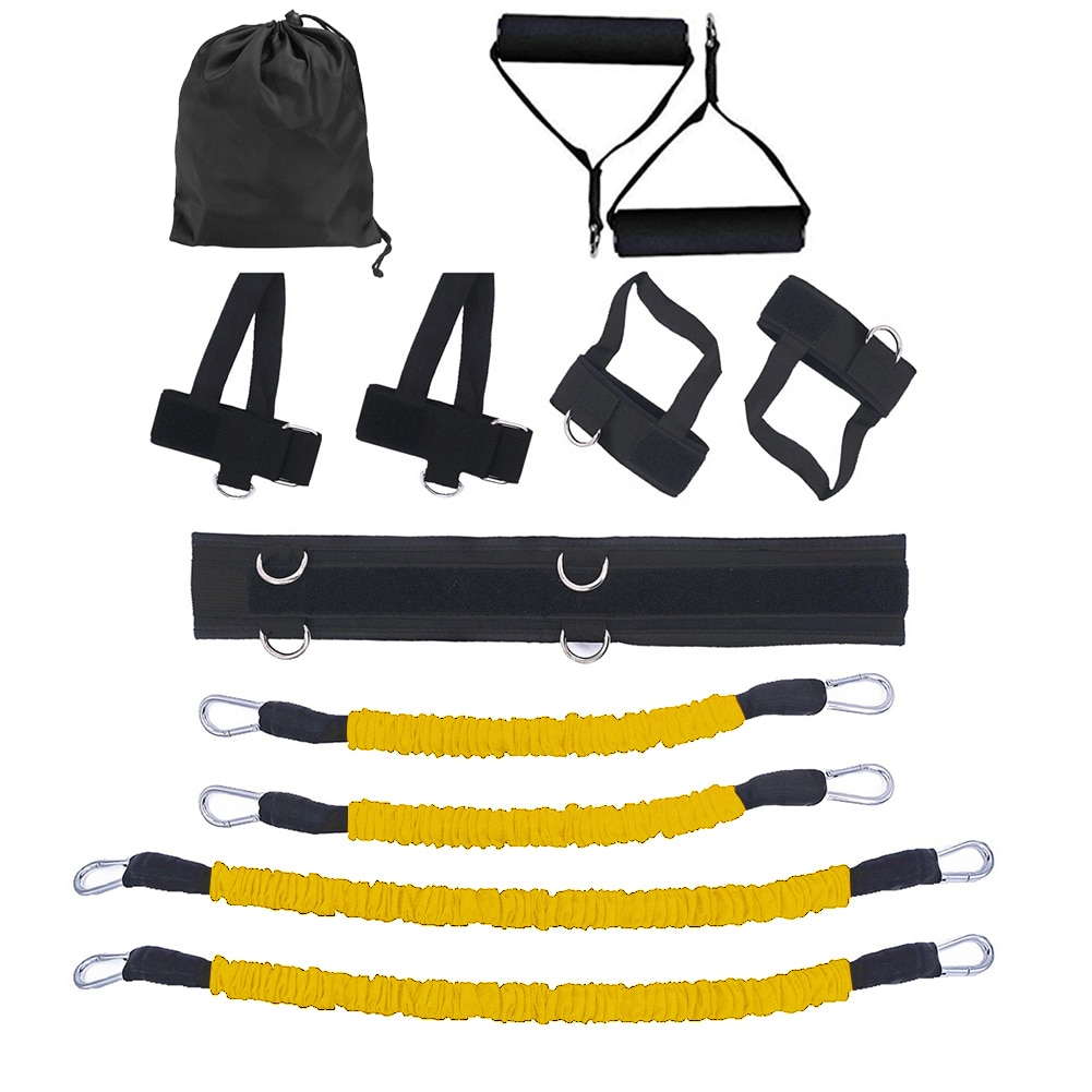 GRT Fitness 23406-bioyjw Pull Rope Strength Training Resistance Bands Boxing Running Jumping Bouncing Home Gym Workout Equipment Stretching Belt