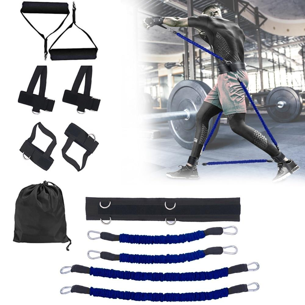 GRT Fitness 23406-cf8eb8 Pull Rope Strength Training Resistance Bands Boxing Running Jumping Bouncing Home Gym Workout Equipment Stretching Belt