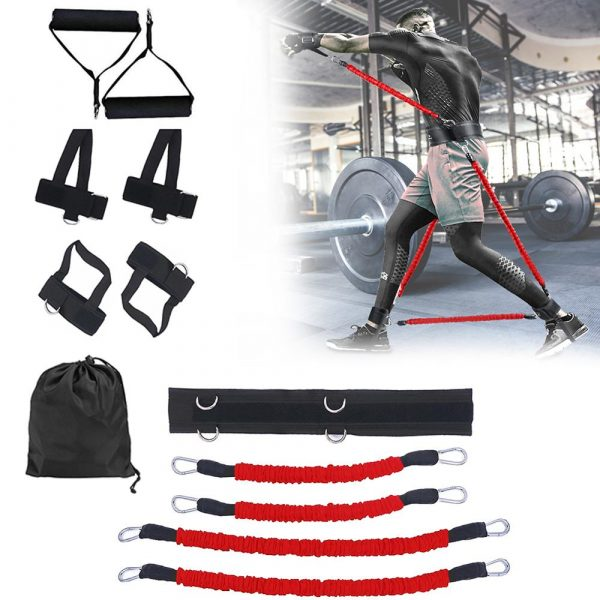 GRT Fitness 23406-l3wupt Pull Rope Strength Training Resistance Bands Boxing Running Jumping Bouncing Home Gym Workout Equipment Stretching Belt