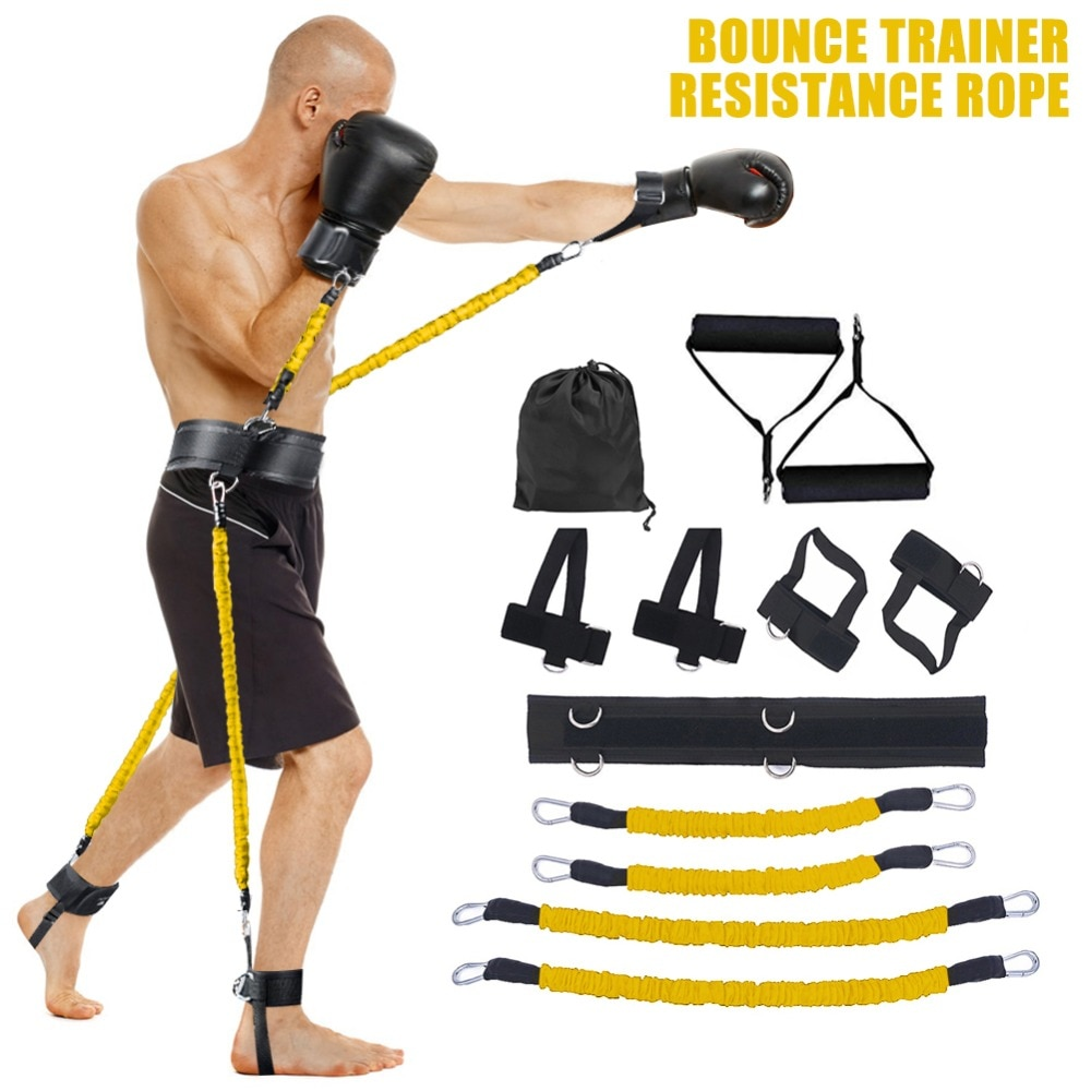 GRT Fitness 23406-mm5zgo Pull Rope Strength Training Resistance Bands Boxing Running Jumping Bouncing Home Gym Workout Equipment Stretching Belt