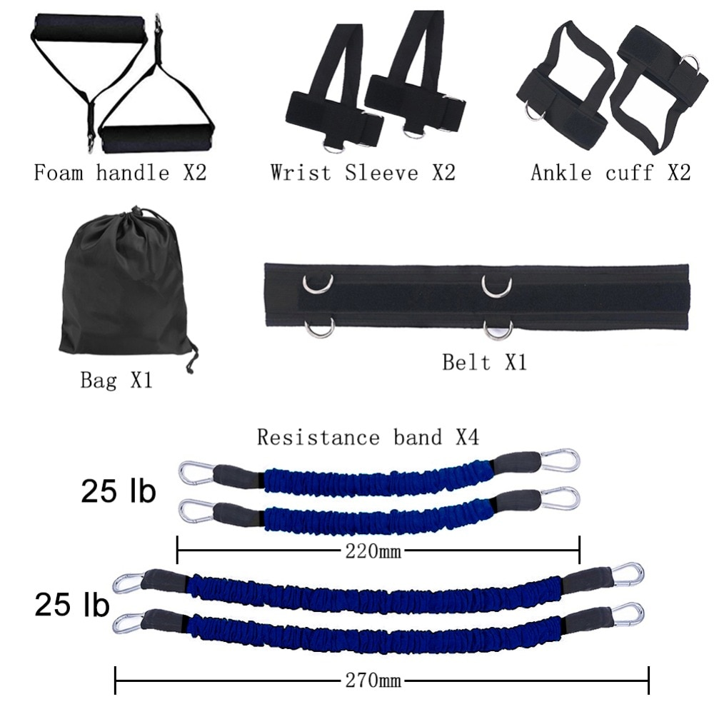 GRT Fitness 23406-pdwasi Pull Rope Strength Training Resistance Bands Boxing Running Jumping Bouncing Home Gym Workout Equipment Stretching Belt