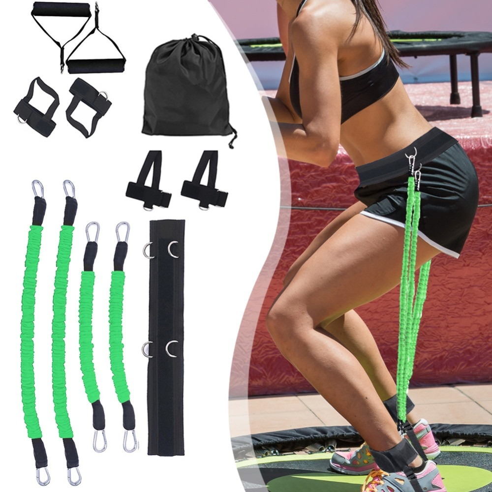 GRT Fitness 23406-t0l0x8 Pull Rope Strength Training Resistance Bands Boxing Running Jumping Bouncing Home Gym Workout Equipment Stretching Belt
