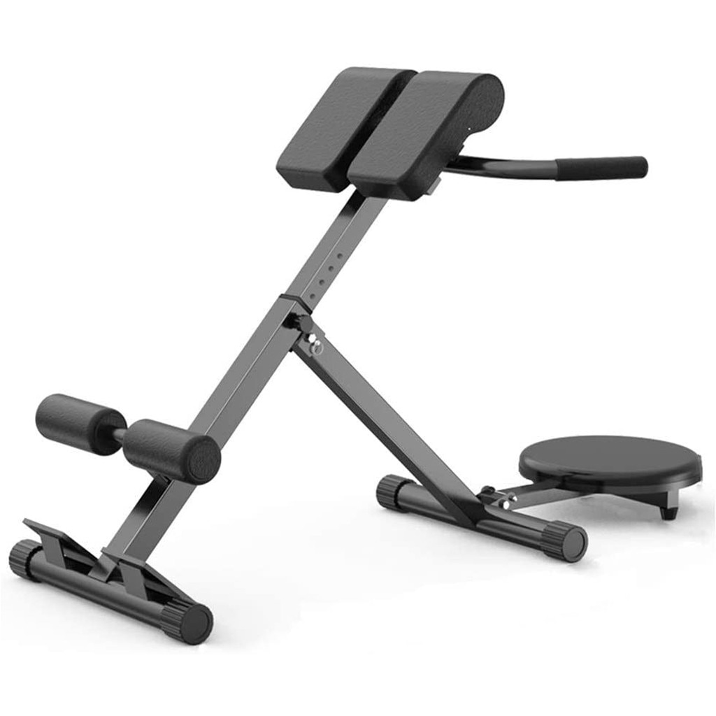 GRT Fitness 23682-ybiedl Folding Roman Chair Multifunctional Fitness Bench Indoor Multifunctional Waist Exercise Equipment