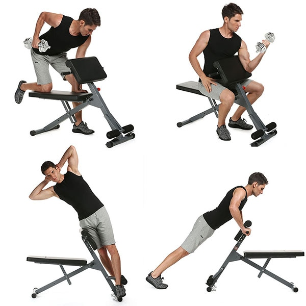 GRT Fitness 23701-mgltkv Multifunctional Sit Up Bench Pro Ab Training Chair Core Strength Equipment