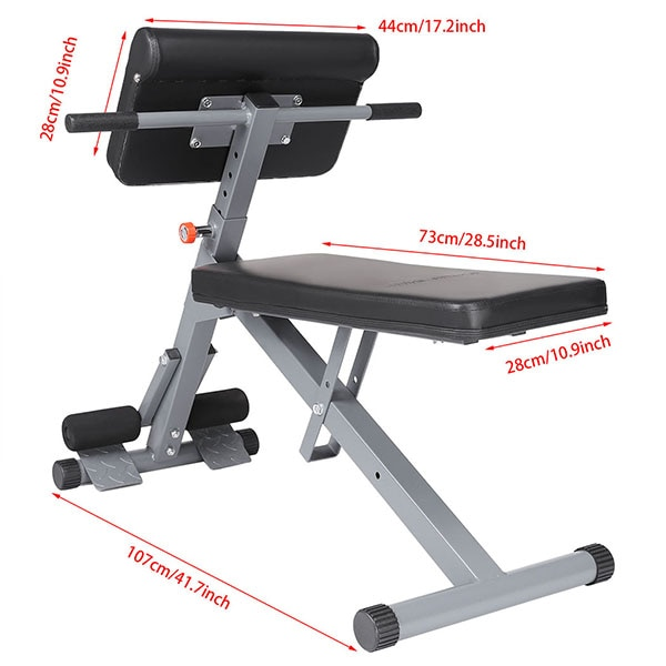 GRT Fitness 23701-vif1sc Multifunctional Sit Up Bench Pro Ab Training Chair Core Strength Equipment