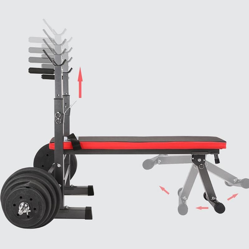 GRT Fitness 23719-a9q6pj Fitness Exercise Foldable Height Adjustable Multifunctional Bench Press Weightlifting Bed Total Load Weight 450lbs
