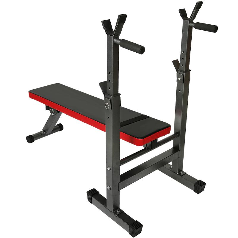 GRT Fitness 23719-dldatg Fitness Exercise Foldable Height Adjustable Multifunctional Bench Press Weightlifting Bed Total Load Weight 450lbs