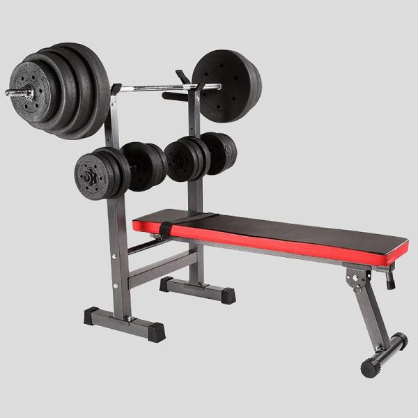 GRT Fitness 23719-swkqnd Fitness Exercise Foldable Height Adjustable Multifunctional Bench Press Weightlifting Bed Total Load Weight 450lbs