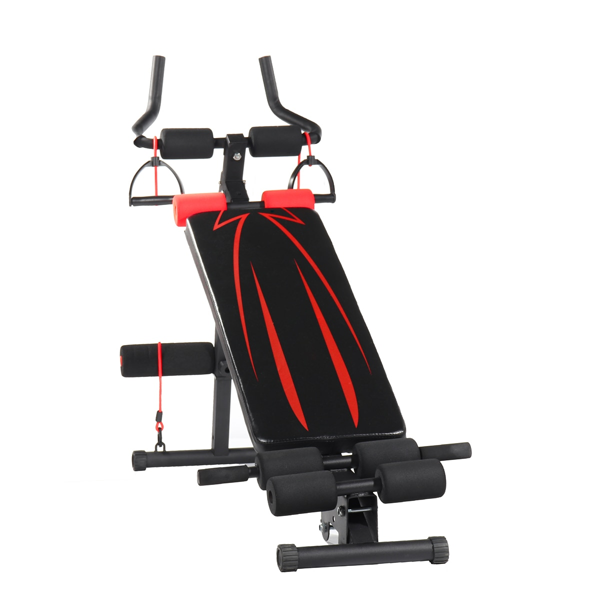 GRT Fitness 23781-jhof0r 4in1 Foldable Dumbbell Bench 7 Gear Backrest Sit Up AB Abdominal Multifunctional Fitness Bench Weight Training Equipment Rollers