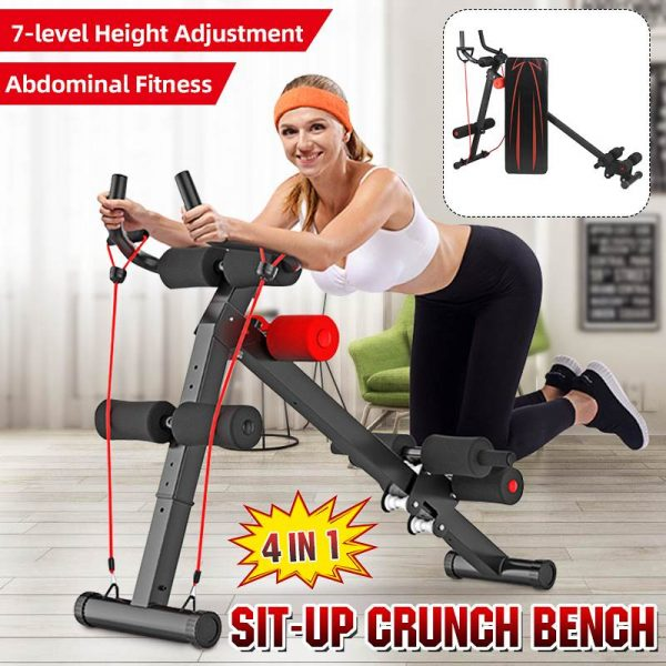 GRT Fitness 23781-lbdjzu 4in1 Foldable Dumbbell Bench 7 Gear Backrest Sit Up AB Abdominal Multifunctional Fitness Bench Weight Training Equipment Rollers