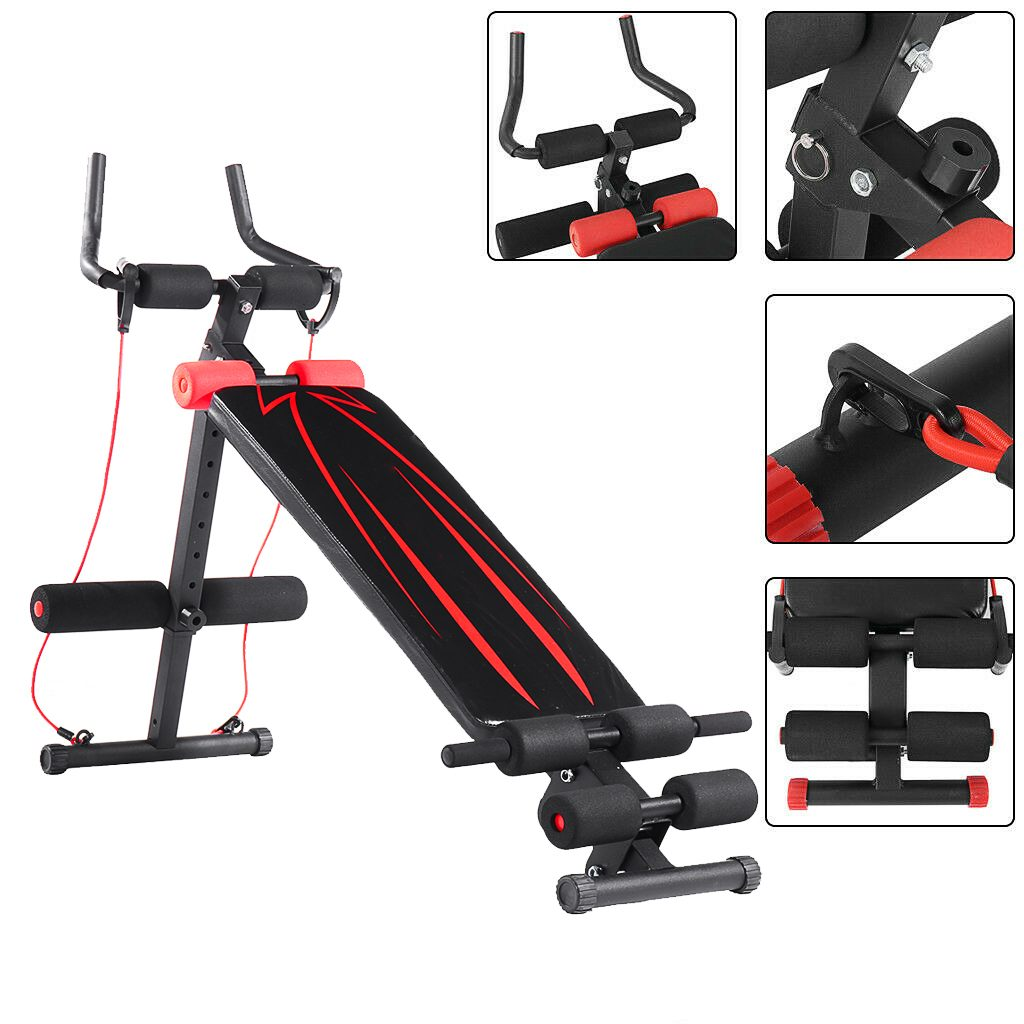 GRT Fitness 23781-undrlb 4in1 Foldable Dumbbell Bench 7 Gear Backrest Sit Up AB Abdominal Multifunctional Fitness Bench Weight Training Equipment Rollers