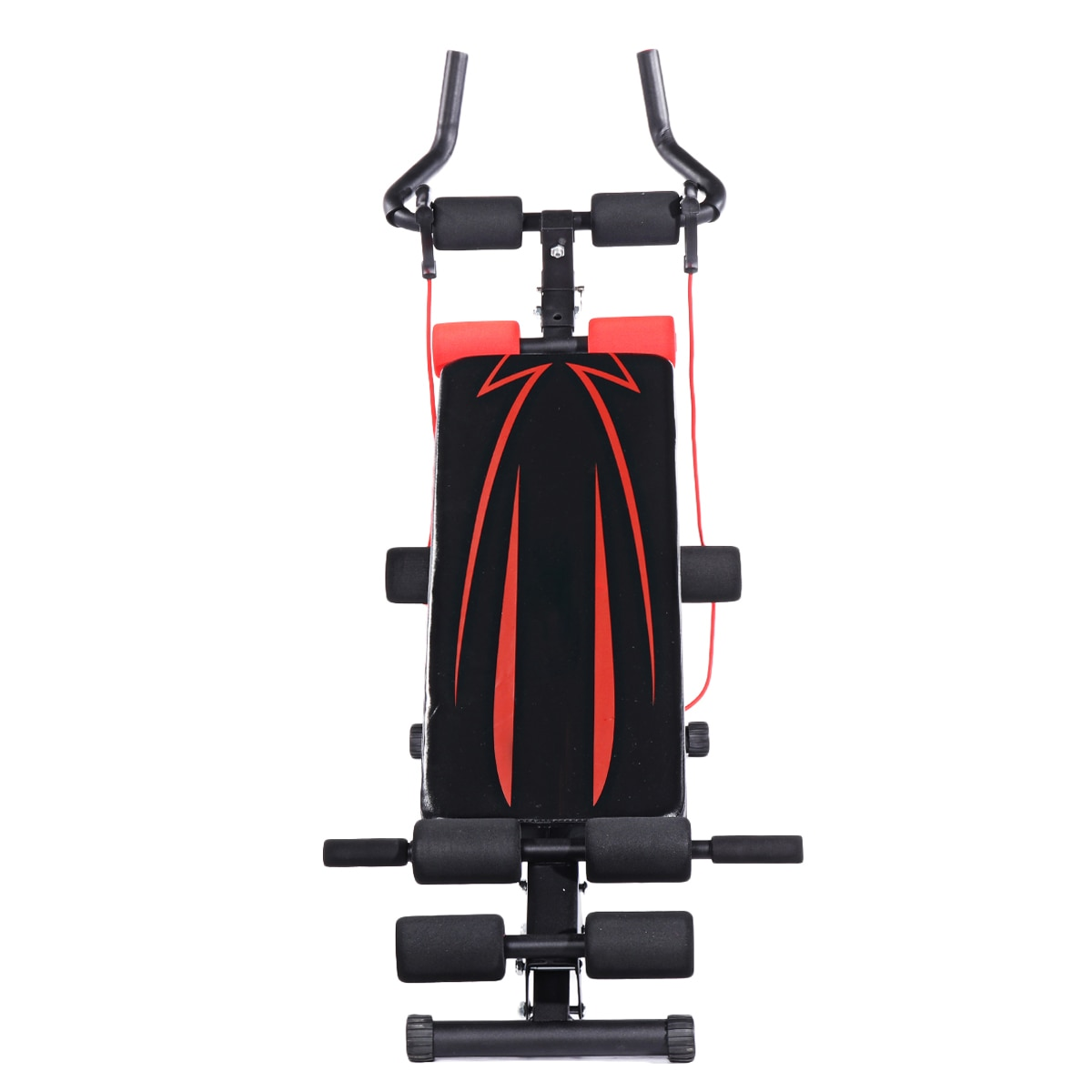 GRT Fitness 23781-zgadiw 4in1 Foldable Dumbbell Bench 7 Gear Backrest Sit Up AB Abdominal Multifunctional Fitness Bench Weight Training Equipment Rollers