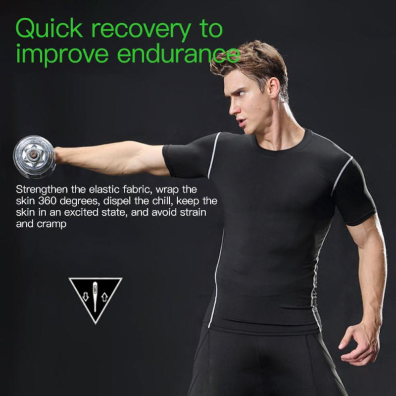 GRT Fitness 23890-3z2fal Men Sportswear Breathable Quick Dry Training Short Sleeved T-shirts Joggers Round Neck