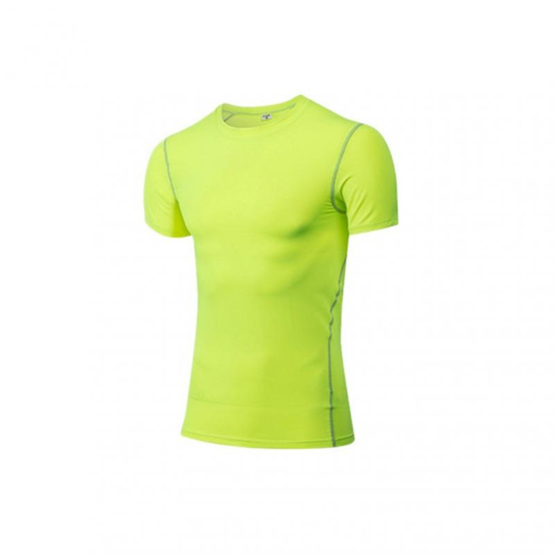 GRT Fitness 23890-5zzxzf Men Sportswear Breathable Quick Dry Training Short Sleeved T-shirts Joggers Round Neck