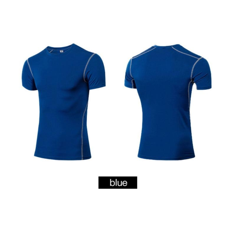 GRT Fitness 23890-9xcofk Men Sportswear Breathable Quick Dry Training Short Sleeved T-shirts Joggers Round Neck