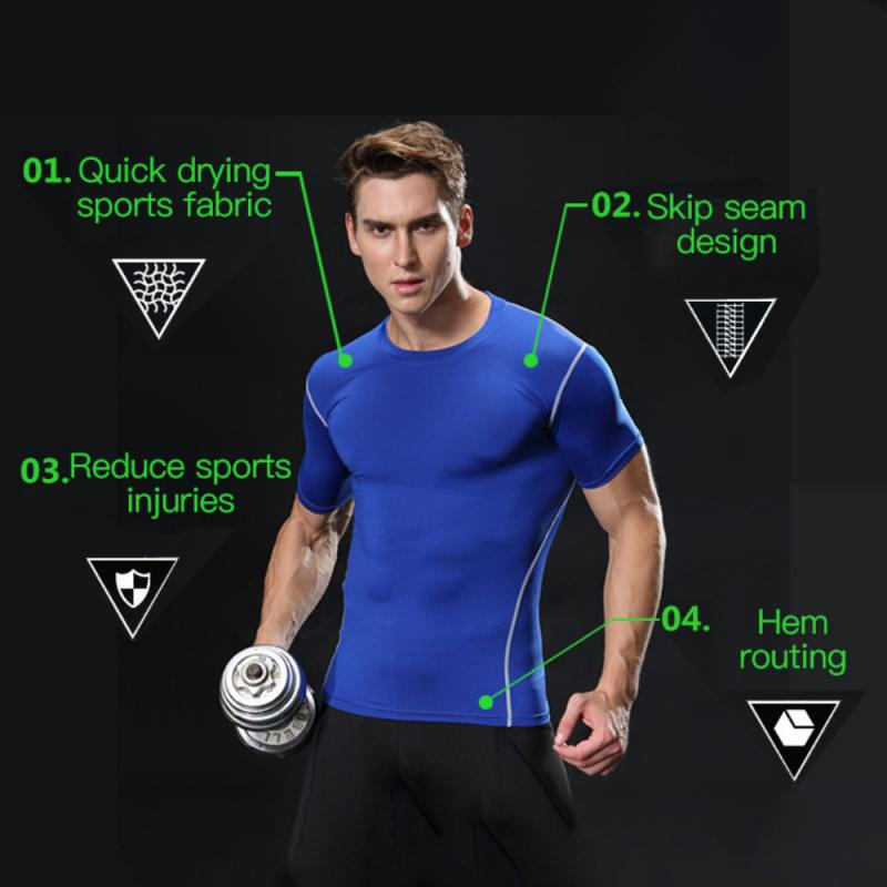 GRT Fitness 23890-d0owej Men Sportswear Breathable Quick Dry Training Short Sleeved T-shirts Joggers Round Neck