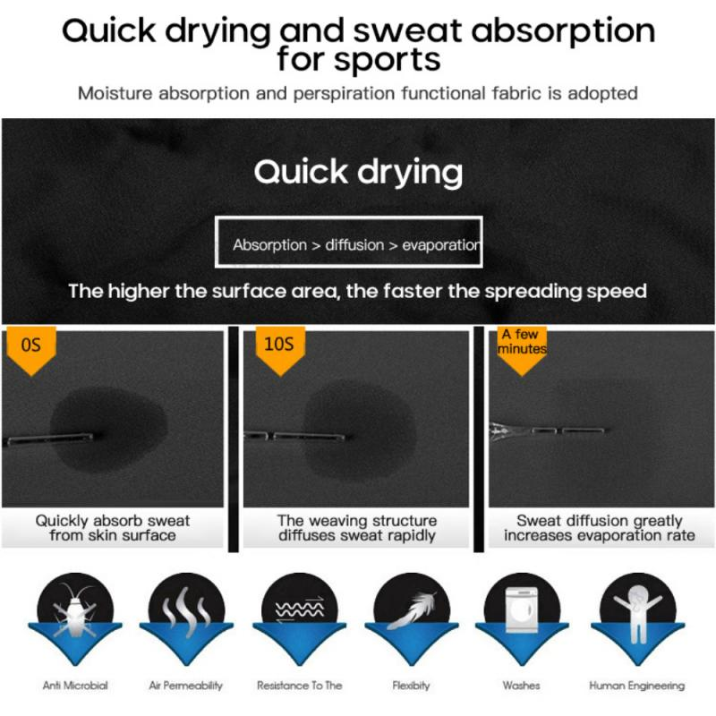 GRT Fitness 23890-irarb5 Men Sportswear Breathable Quick Dry Training Short Sleeved T-shirts Joggers Round Neck