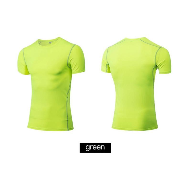 GRT Fitness 23890-nucojn Men Sportswear Breathable Quick Dry Training Short Sleeved T-shirts Joggers Round Neck