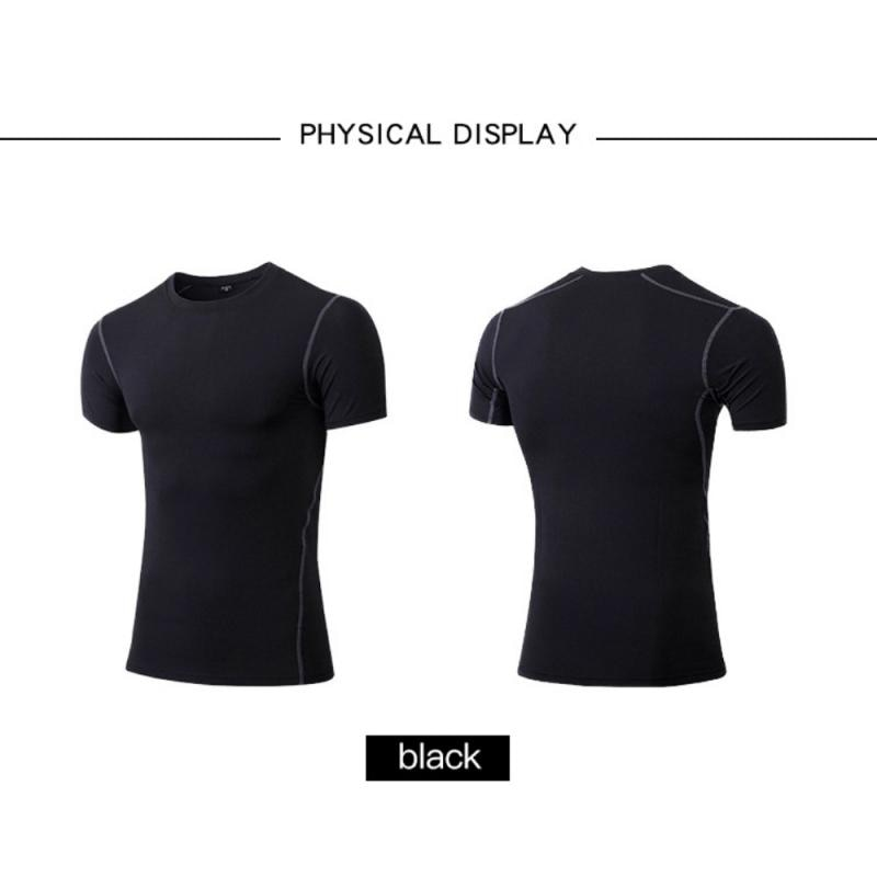 GRT Fitness 23890-picwif Men Sportswear Breathable Quick Dry Training Short Sleeved T-shirts Joggers Round Neck