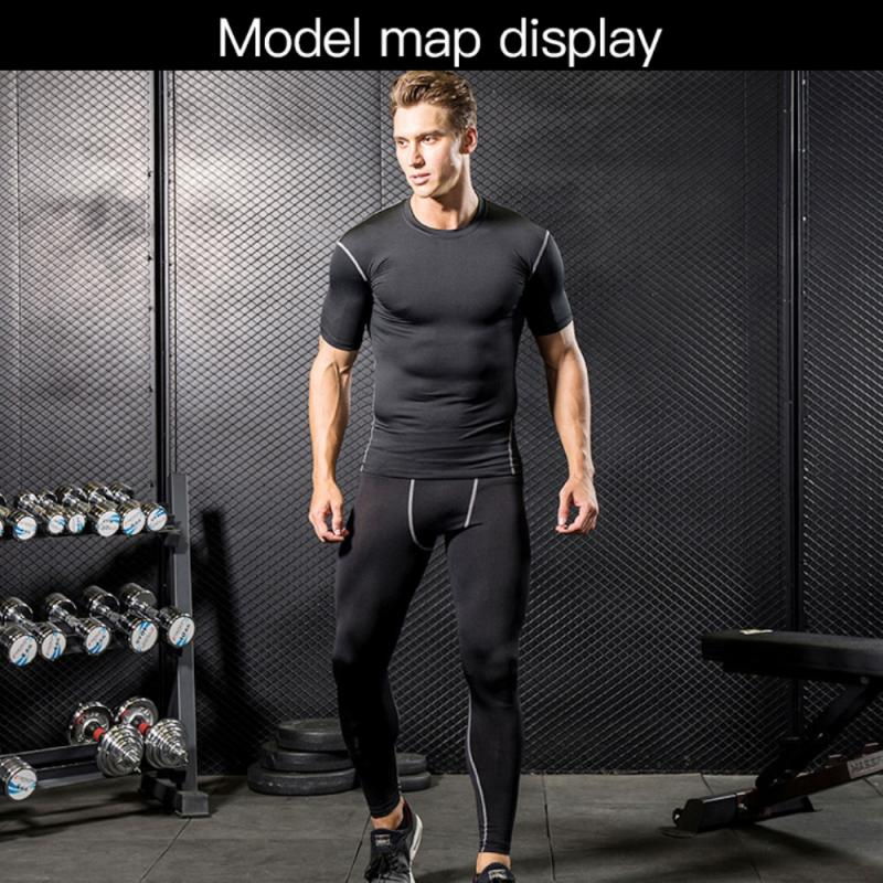 GRT Fitness 23890-vx659p Men Sportswear Breathable Quick Dry Training Short Sleeved T-shirts Joggers Round Neck